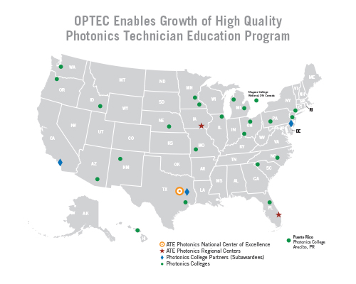 OP-TEC provides student recruitment tools, professional development, standards-based curriculum, instructional materials, and technical assistance to help its 30-college network meet workforce needs.