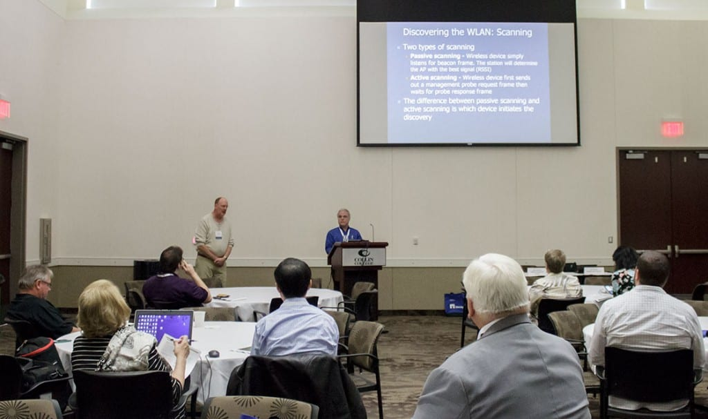 """Karl Dietrich and Bill Saichek presented their popular session """"Is Teaching Wireless Networking In Your Future?"""""""