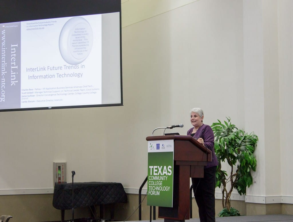 Candy Slocum, moderates panel discussion on Top 15 Future Trends in IT