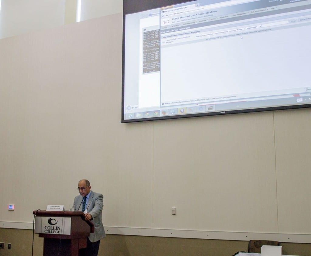 Eliazar Martinez presents a session on Cisco CUCM and Auto Registering