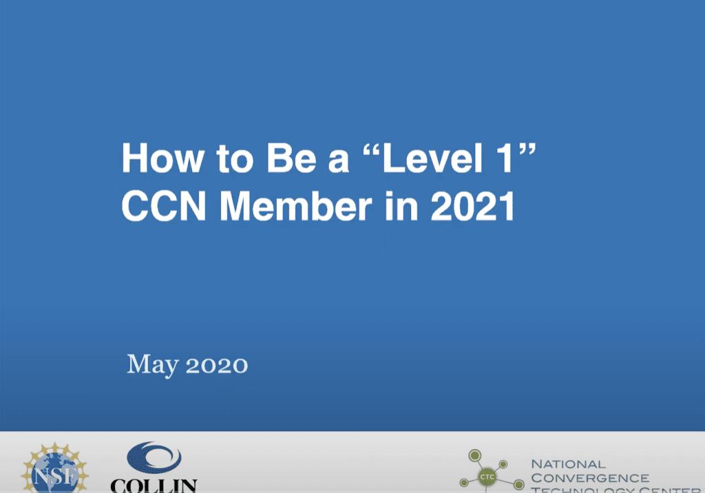 Level CCN Member in 2021